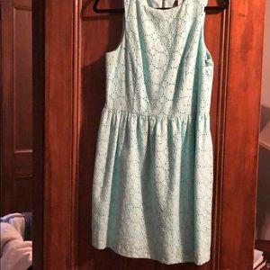Juniors mint/blue dress